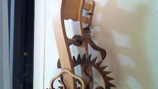 Serpentine Wood Gear Clock