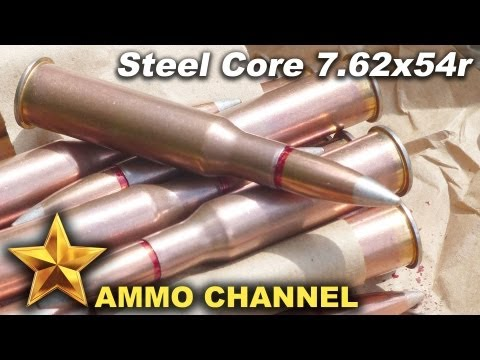 AMMOTEST: 7.62x54r Steel Core ammo penetration tests