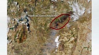 Imagem de satélite da Nasa mostra queimadas na Chapada dos Veadeiros (GO)