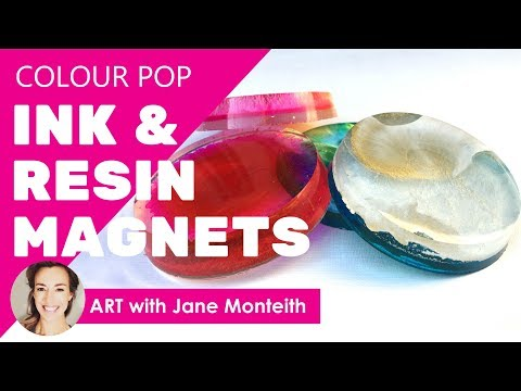 Colour Blast Ink & Resin Magnets and Paperweights