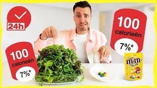 1 DAG ALLEEN PORTIES VAN 100 CALORIEËN ETEN! (Experiment)
