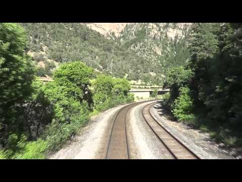 REAR VIEW - Amtrak's California Zephyr - Through the Rockies