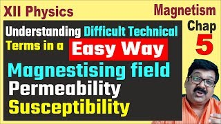 Magnetism and Matter, Technical Terms, Magnetising field, permeability, susceptibility,JEE, NEET,