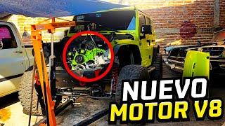 ASÍ VA EL SWAP DE MOTOR DE MI JEEP.. *Motor verde* | ManuelRivera11