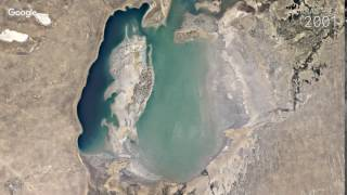 Google Timelapse: Aral Sea(Timelapse is a global, zoomable video that lets you see how the Earth has changed over the past 32 years. Explore the world through time at ..., 2016-11-29T15:55:35.000Z)