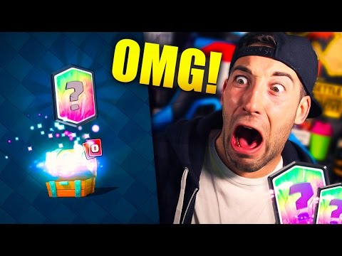 LEGENDARY FROM FREE CHEST WHILE RECORDING!! GEMS GIVEAWAY + 50 WITCHES! | Clash Royale