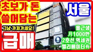 초보도 돈 쓸어담는 서울 급매물❗ 그냥 월 천만원씩 받…