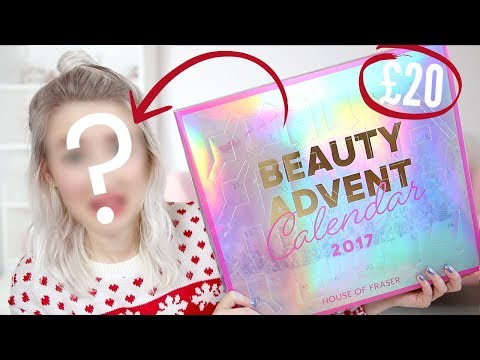 Full Face Of ADVENT CALENDAR Makeup + UNBOXING   Sophie Louise