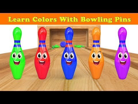 Bowling Ball Game for Kids| Learning Videos for Children