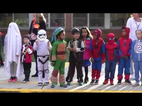 Halloween Parade at Johnson Park Elementary School in Princeton, NJ