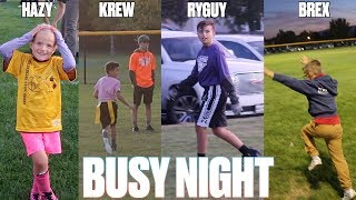 CRAZY BUSY SCHOOL NIGHT ROUTINE WITH FOUR KIDS | SPORTS, MUSIC, MEETINGS, PRACTICES, AND GAMES