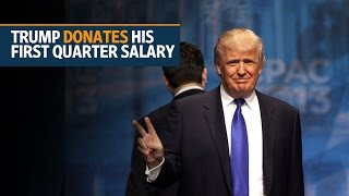 Trump donates his first quarter salary to National Park Service