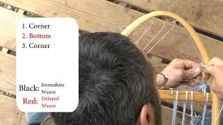 Snowshoe Weaving Part 10: Rounded toe or heel weave