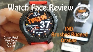 Samsung Watch Face Review : JND Brushed Hybrid Gear S3 Galaxy Watch Gear Sport