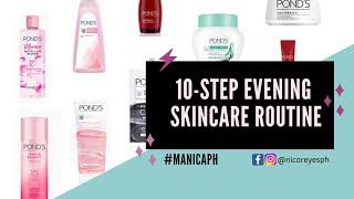 10-Step Evening Skincare Routine + Pond's Haul  | Nica Reyes 👑