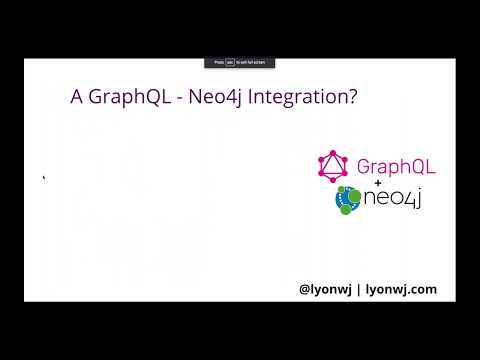 Building A GraphQL Service Backed By Neo4j