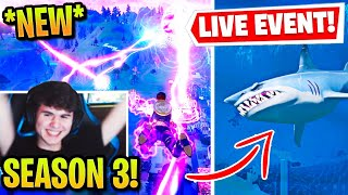 BUGHA & STREAMERS REACT TO *LIVE* DOOMSDAY EVENT (THE DEVICE!) SEASON 3 MAP FLOOD & SHARKS!