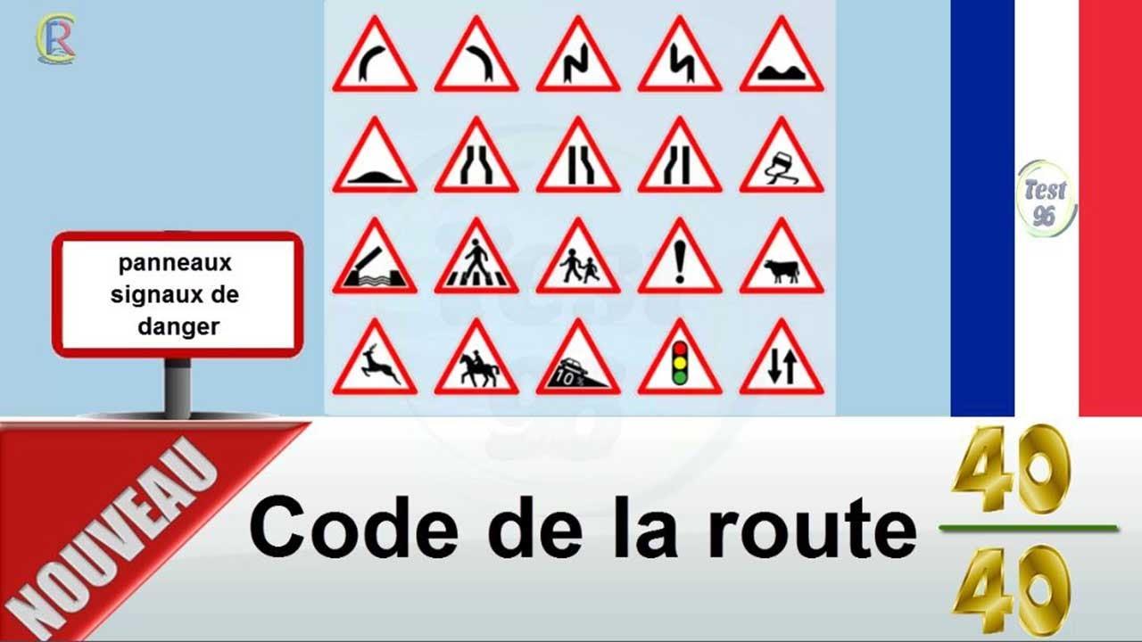 Nouveaux Examen 2020 Code De La Route Panneaux De