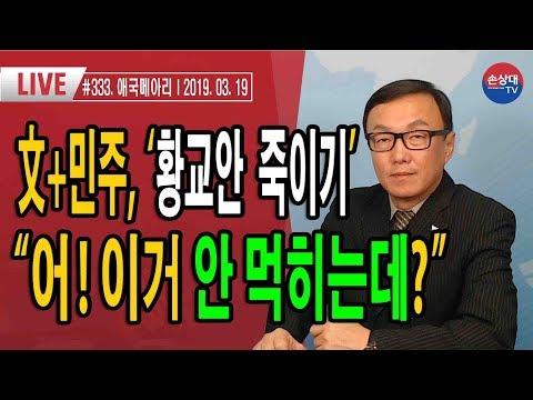 """문재인+민주당,  '황교안 죽이기' .....""""어! 이거 안 먹히는데?""""?"""" (2019. 3. 19) #333"""