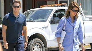 Chris Pratt And Katherine Schwarzenegger Color-Coordinate In Blue