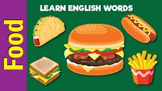 Learn Food Vocabulary | Video Flash Cards | ESL for Kids | Fun Kids English