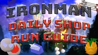Complete Ironman Daily Shop Run Guide 2017 [RuneScape 3]