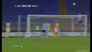 Lazio vs Napoli 3-1 GOL MAURI ROVESCIATA ! (7-04-12)