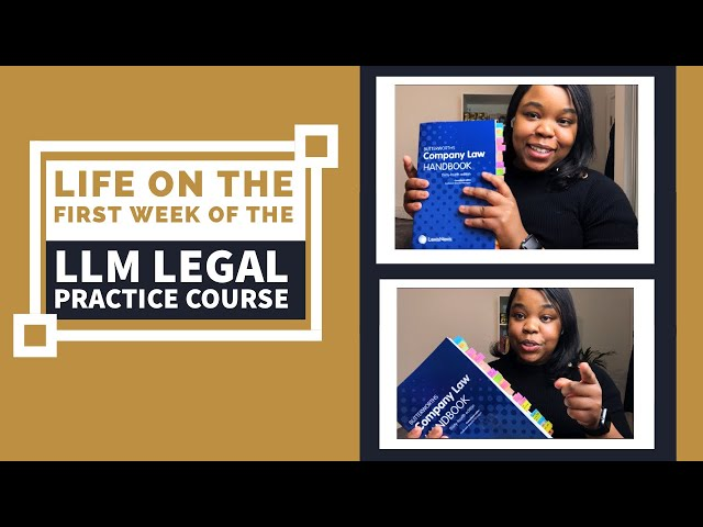 Life on the LLM Legal Practice Course