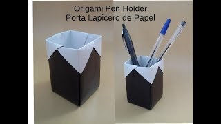 Origami Tutorial Pen Holder. Back to School/ Portalápices de Papel. Vuelta al cole