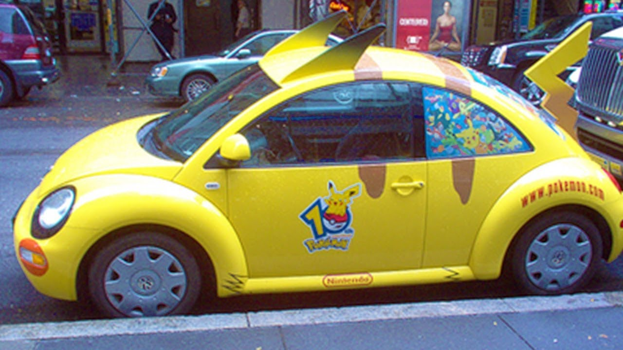 Real Life Pokemon Car  Spotted In Japan
