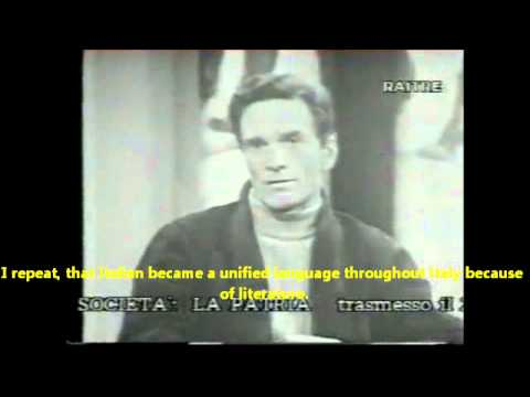 Pasolini sulla Lingua Italiana (ENGLISH SUBTITLES)
