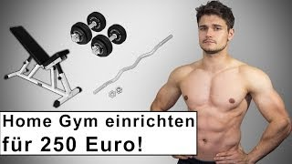 Repeat youtube video Home Gym für 250 Euro - Fitness Training zuhause - Kaufberatung