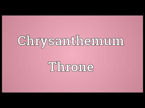 Chrysanthemum Throne Meaning