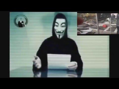 Message des Anonymous après les attentats en belgique du 22/03/2016