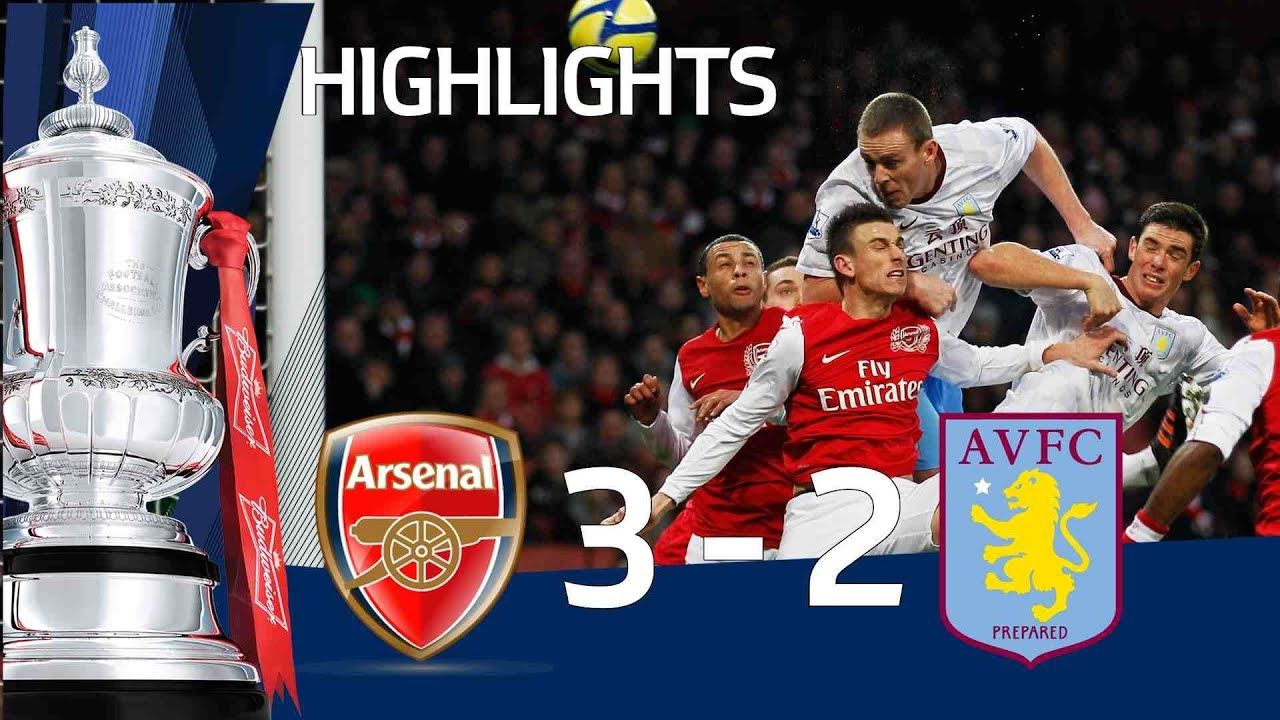Aston Villa Vs Arsenal   Video Highlights