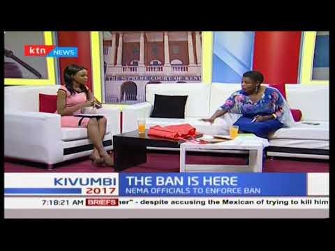 NEMA Deputy Director, Betty Nzioka speaking on the alternatives Kenya has after Plastic ban