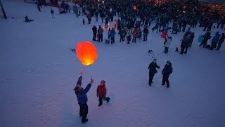 Lanterns Touch the Sky - 2014 Olympic Skier Send Off Party in Steamboat Springs, Colorado