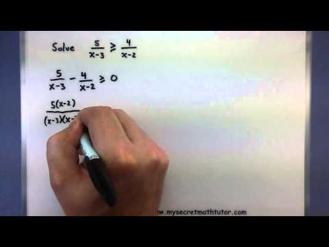 Pre-Calculus - Solving rational inequalities