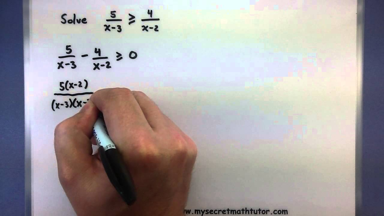 PreCalculus Solving rational inequalities YouTube – Polynomial Inequalities Worksheet