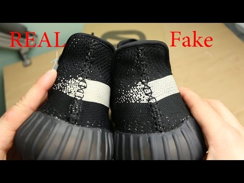 Yeezy 350 V2 Black/White 'Real vs. Fake'