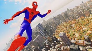 Spider-Man PS4 - Into The Spider-Verse Spider-Man Combat & Epic Free Roam Gameplay