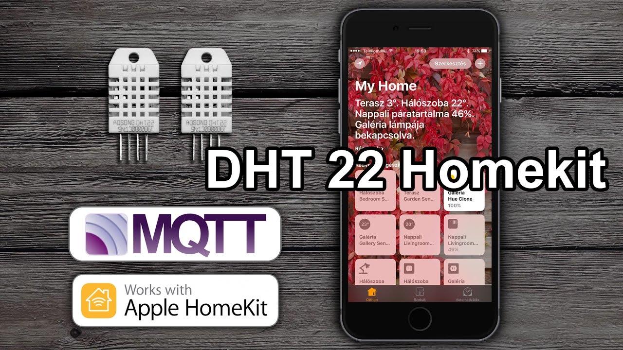 Homekit dht temperature and humidity sensor using