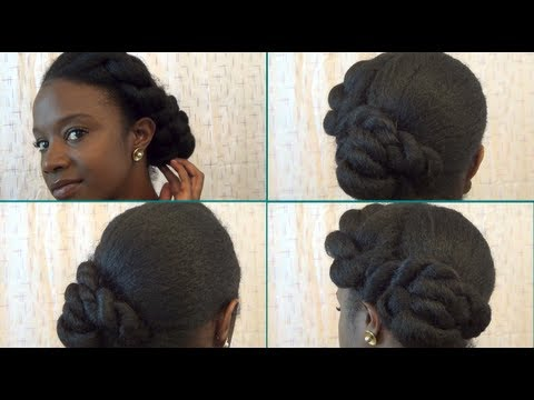 natural hair formal twisted updo