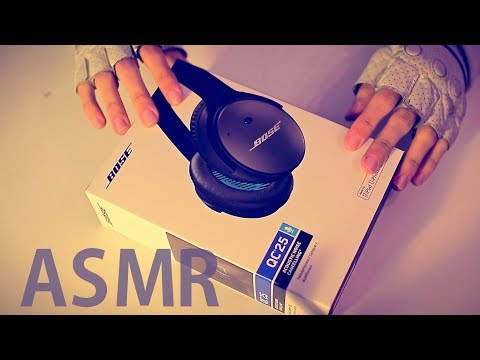 [ASMR] UNBOXING Bose QC25 Headphones - ENGLISH & FRENCH Soft Spoken