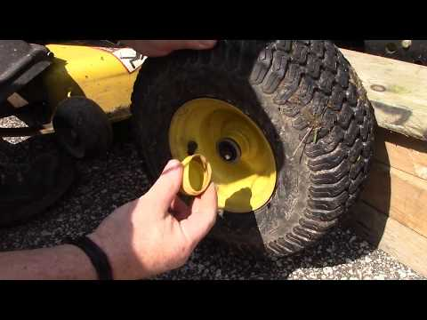 How To Remove Front And Rear Tires From John Deere X310 Lawn Mower Tractor