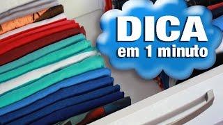 Dica em 1 minuto: Como dobrar camisetas para armário e gaveta | Renata Nicolau