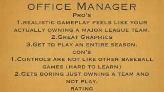 Mlb front office manager review