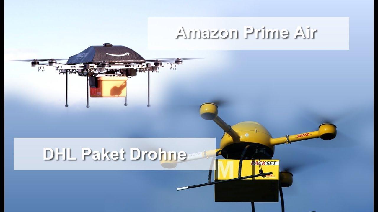 Amazon Und DHL Wollen Pakete Per Drohne Zustellen