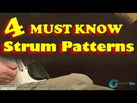 RHYTHM GUITAR 60 Must Know Strum Patterns YouTube Stunning Strum Patterns