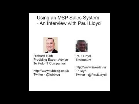 Using an Sales System for your IT Business - An interview with Paul Lloyd